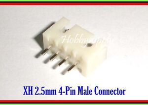 JST XH 2.5mm Pitch 4-Pin Male Straight Header Connector PCB Wire-To-Board x 150