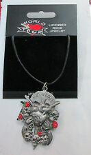 GUNS N' ROSES VINTAGE NECKLACE PENDANT NEW FROM LATE 90'S HEAVY METAL SLASH GNR