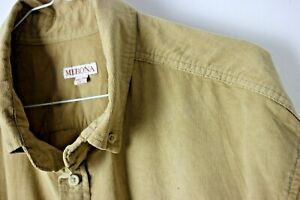 Vintage 90s Mens Corduroy Beige/Camel Skate Hipster Style XXL Long Sleeve Shirt