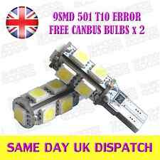 9 SMD LED T10 501 Canbus bulbs Xenon White Audi BMW Ford Seat VW (Pair)