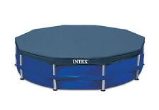 Intex 10-Foot Round Above Ground Pool Vinyl Debris Cover, Blue   28030E