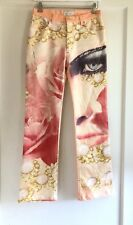 Roberto Cavalli Metallic Printed Jeans Dress Pants Size S Made In Italy