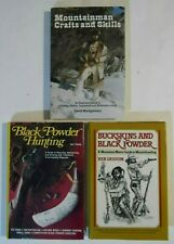Lot of 3 Vintage Mountain Man Black Powder Hunting Books - Excellent