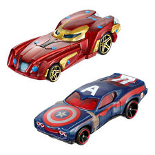 Hot Wheels Marvel Civil War 1:64 Scale Die-cast Cars: IRON MAN & CAPTAIN AMERICA
