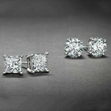 Bedazzled Bijou White Gold Plated Stud Earrings Set
