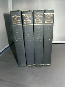 Works of Theodore Roosevelt 1897 Executive Edition Winning the West~4 Volumes