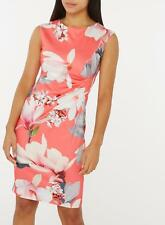 New Ex. Dorothy Perkins Billie & Blossom Coral Floral Bodycon Dress
