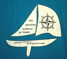 MARITIME ACADEMY OF TOLEDO small T shirt OHIO compass graphic Captain's Wheel