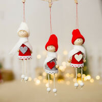Fj- Cn _ in Legno Cartone Albero di Natale Bambola Figura Giocattolo con Corda