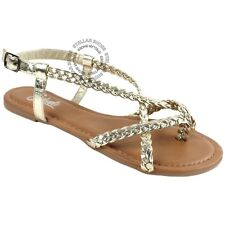 094464bd7c8 New Women s Strappy Roman Gladiator Sandals Flats Crossover Shoes