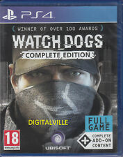 Watch Dogs Complete Edition PS4 Sony PlayStation 4 with add ons Brand New Sealed
