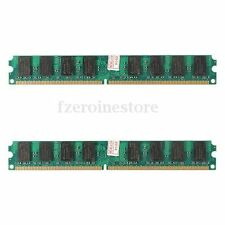 4GB(2X2 Gb)MEMORIA RAM PC2 5300 667Mhz DDR2 240PINES DIMM PC HIGH DENSITY AMD