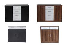 Caspian Storage Cabinet Sideboard-4 Drawer 2 Drawer-Walnut & White Black & White