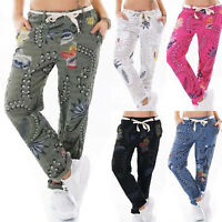 529666945cf78 Womens Summer Casual Floral Printed Long Trousers Gym Sports Loose Pants  Bottoms