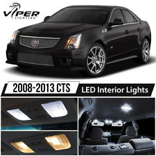 2008-2013 Cadillac CTS CTS-V White LED Interior Lights Package Kit