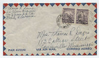 1948 Barbados airmail cover to US pair 6d steamship crew member  [L.35]