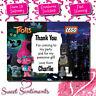 Personalised Lego Batman & Trolls Birthday Party Invitations & Thank You Cards
