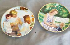 Set Avon Mother's Day Plates Porcelain 22k Gold Trim 2006/2007