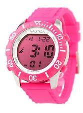 NAUTICA Orologio Donna A09930G rosa silicone quarzo lcd digitale led nuovo uomo