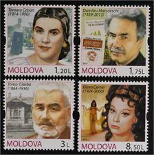 Moldawien Moldova 2014 Michel Nr. 870-73 Persönlichkeiten Elena Cernei Sängerin