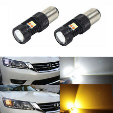 Switchback White & Amber LED Turn Signal Light Bulbs For 2013-2015 Accord Sedan