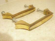 2 poignées pour meuble ou tiroir métal doré