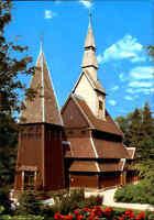 Kirchen Gebäude Außenansicht Nordische Stabkirche Kirche Goslar Hahnenklee AK