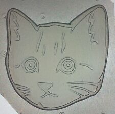 Flexible Plastic Mold Kitty Cat Kitten Head Mould Resin or Chocolate