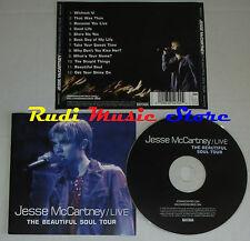 CD JESSE MCCARTNEY live beautiful soul tour 2006 eu hollywood records mc lp dvd