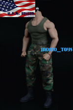1/6 Combat Military Tank Top Set B For PHICEN M33 M34 M35 Muscular Figure❶USA❶