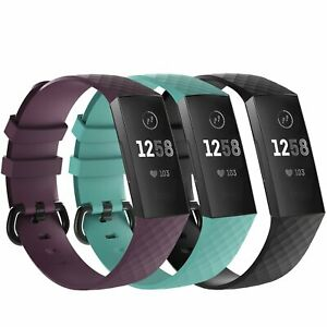 3 Pack Replacement  Band for Fitbit Charge 3  Bracelet Watch Rate Fitness