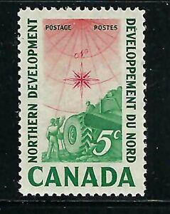 CANADA - SCOTT 391 - VFNH - SURVEYING CREW - 1961