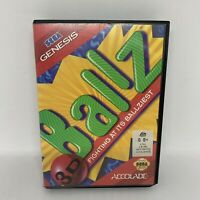 Ballz for Sega Genesis (Mega Drive) - Complete w/ Manual - Tested & Working