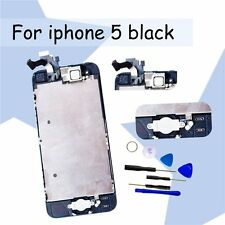 Complete Full&Screen Digitizer with Home Button +Camera For iPhone5 LCD Black