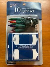 Holiday Time Christmas 10 LIGHT Set Battery Operated Color Summer Party