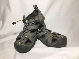 KEEN NEWPORT H2 Big Kids Size 2 Gray Sport Sandals Water Shoes Boys Girls VGC