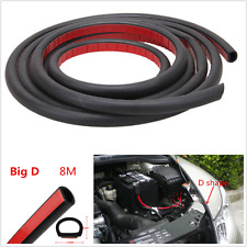 8M Big D Shape Car Door Window Trim Edge Seal Strip Moulding Rubber Weatherstrip