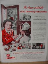 1949 Employers Mutual Wausau Insurance Industrial Nurse Vintage Print Ad 10113