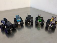 Lot Of 5 HOT WHEELS 1/64 Scale Diecast  4 X 4 Monster Jam Trucks Preowned