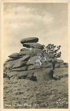 c1910 Balancing Rocks in Deer Creek Park, Wyoming Real Photo Postcard/Rppc