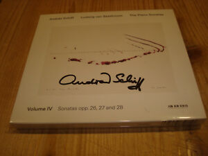 ANDRAS SCHIFF Beethoven Piano Sonatas Vol.4 12-15 ECM CD NEW Signed NEU Signiert