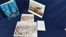 Albert Lane Painting print from Smithsonian 1975 Air Space Museum Book Mural VG