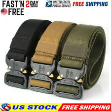 Casual Military Tactical Belt Mens Army Combat Waistband Rescue Rigger Belts New