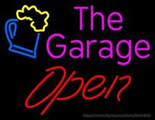 "New The Garage Open Neon Light Sign 24""x20"" Lamp Poster Real Glass Beer Bar"