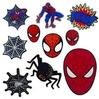 Spiderman comic character cartoon movies badges Iron or Sew on Embroidered Patch