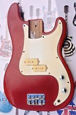 PRECISION BASS STYLE GUITAR BODY PROJECT GOOD CONDITION USED  RED