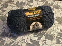 LION BRAND WOOL-EASE Blue Denim Twist and Black Yarn Acrylic Wool 85g Turkey