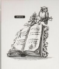 Nellie Snellen / Clear / Book with Owl / UNMOUNTED / stamp / IFS013