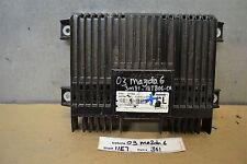 2003-2008 Mazda 6 Radio Amplifier Unit Amp 3M8118T806DA Module 61 11E7