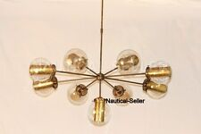 9 Glass Globes Chandelier Modern Gold Brass Shade Chandelier Lighting Fixture